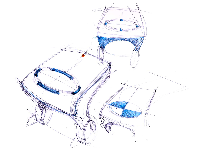 Joanna Boothman groen Tacx VR unit sketch