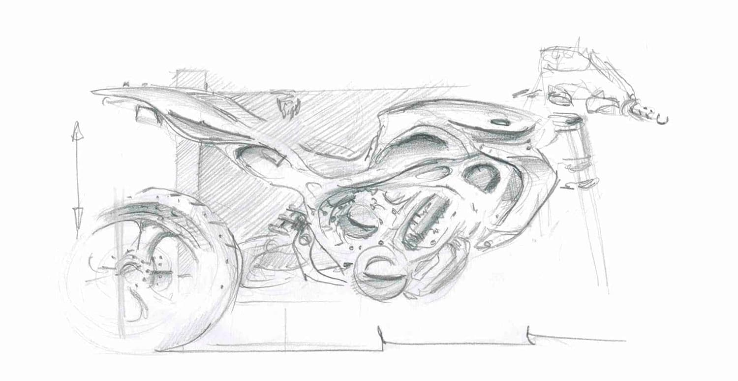 Motorcycle design sketch Hanno Groen Design Amsterdam